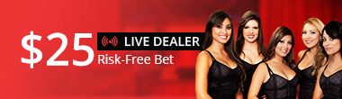 Live Dealer Casino $25 Free Play